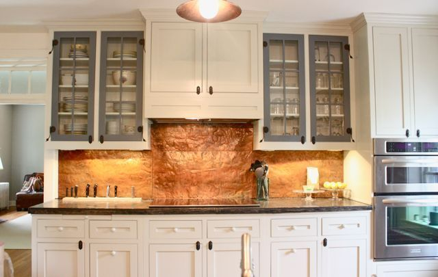Copper, Cabinets and Hammered copper on Pinterest