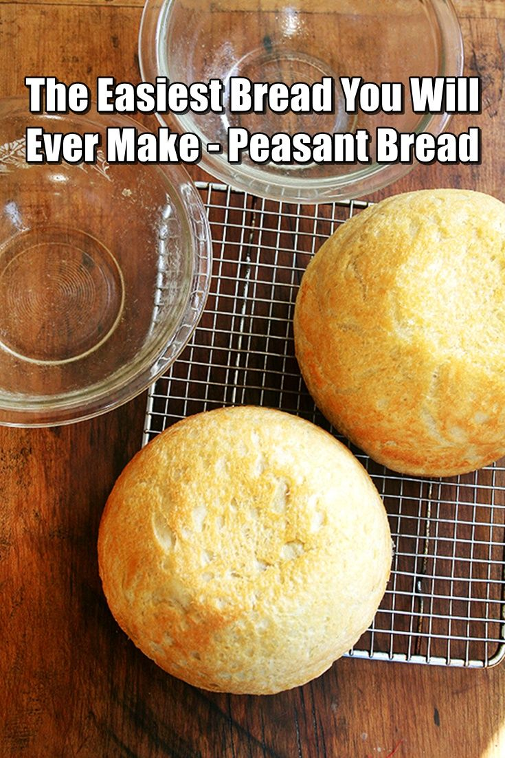 The Easiest Bread You Will Ever Make: Peasant Bread - It emerges golden and crisp without any steam pans or water spritzes. It is not artisan bread, and it's not trying to be. It is peasant bread, spongy and moist with a most-delectable buttery crust