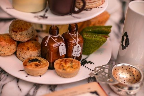 Tempting potions for #afternoontea in #London at the Sanderson Hotel, Mad Hatters Tea Party.
