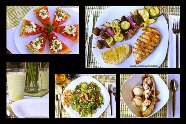 Summer Soiree Menu - grilled: Summer Soirée, Desserts Recipes, Desserts Ideas, Dessert Recipes, Main Courses, Grilled Appetizers, Maine Courses, Soir Menu, Grilled Recipes