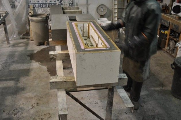 The Making of a Concrete Bench by Sticks and Stones Furniture Canada