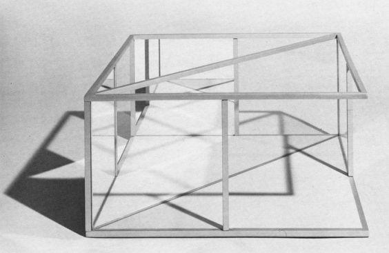Pavilion for Argonne ( maqueta) / Dan Graham / 1975