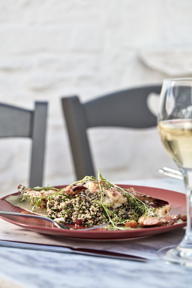 To all the health food lovers out there, show some love for our Quinoa and Seafood Salad!