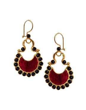 Ottoman Hands Surround Crescent #Earrings  Love this brand...just wish they made rings small enough for my fingers :o(