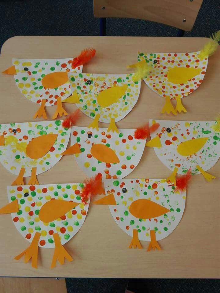 Lustige Hühner