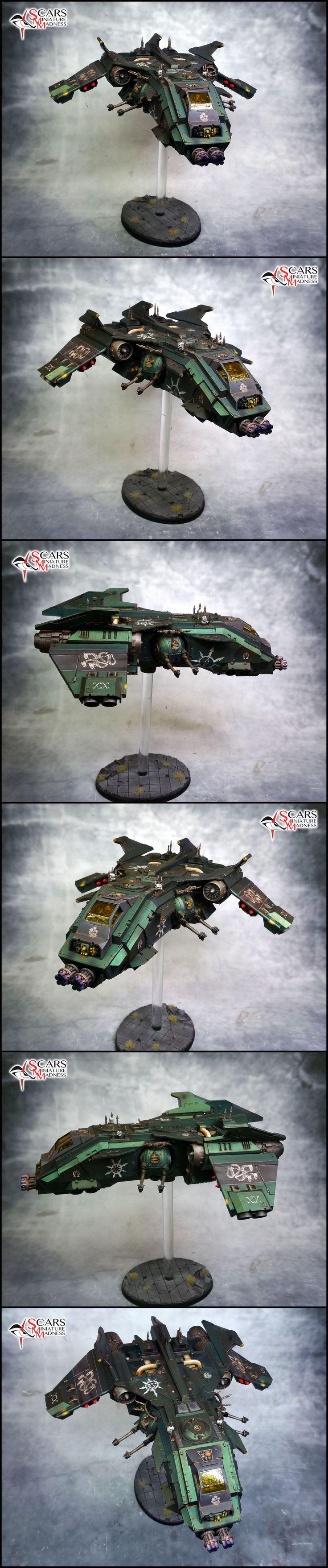Alpha Legion Fire Raptor by Peter Zuidgeest, Scarsminiaturemadness on http://www.lounge.belloflostsouls.net/showthread.php?41307-Scarsminiaturemadness&p=525106#post525106
