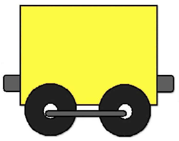 Tren con vagones para colorear - Imagui
