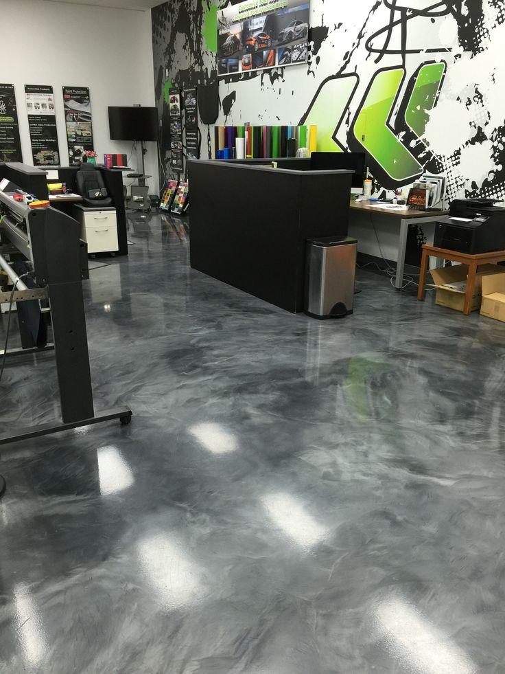 Metallic Epoxy floor coating installed for a print shop by Sierra Concrete  Arts. 187 best Interior decorative concrete and metallic epoxy coatings