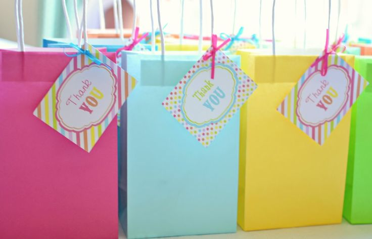 After party food and festivities, each guest got to fill their own goody bag with all their favorites from ...