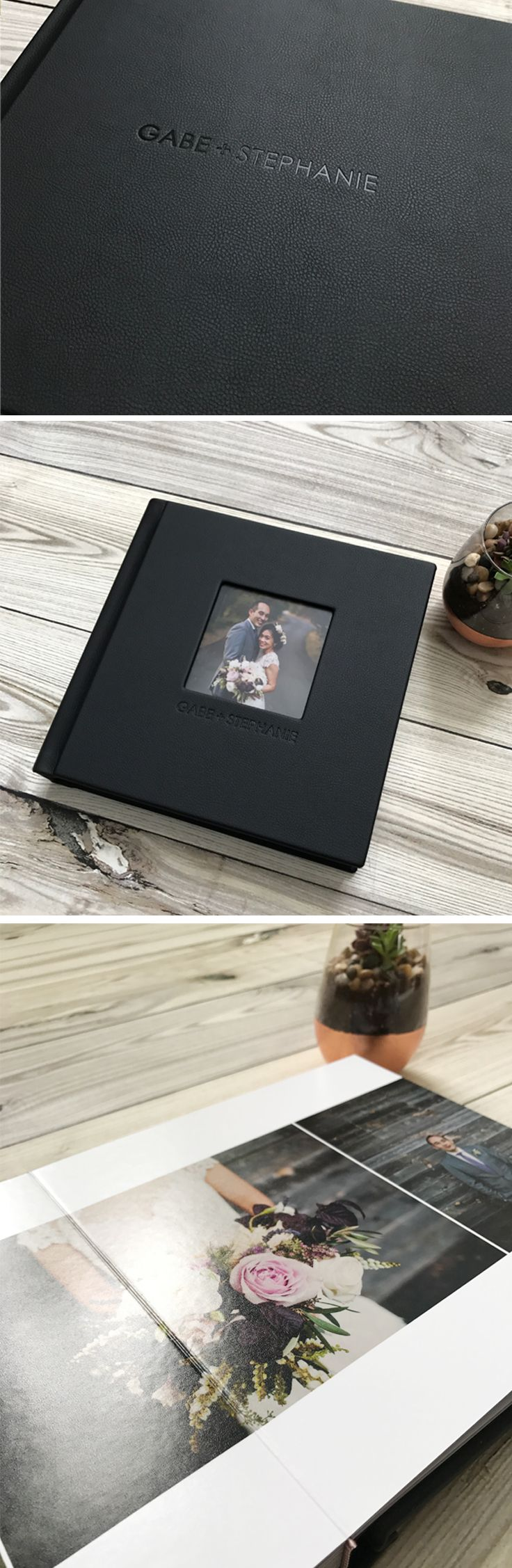 Classic leather wedding photo albums with free design and unlimited revisions. Visit our site www.albumsremembered.com for all the promos!