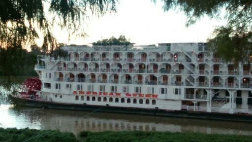 American Queen docked at Vicksburg, MS, last week Nov. 24, 2015.