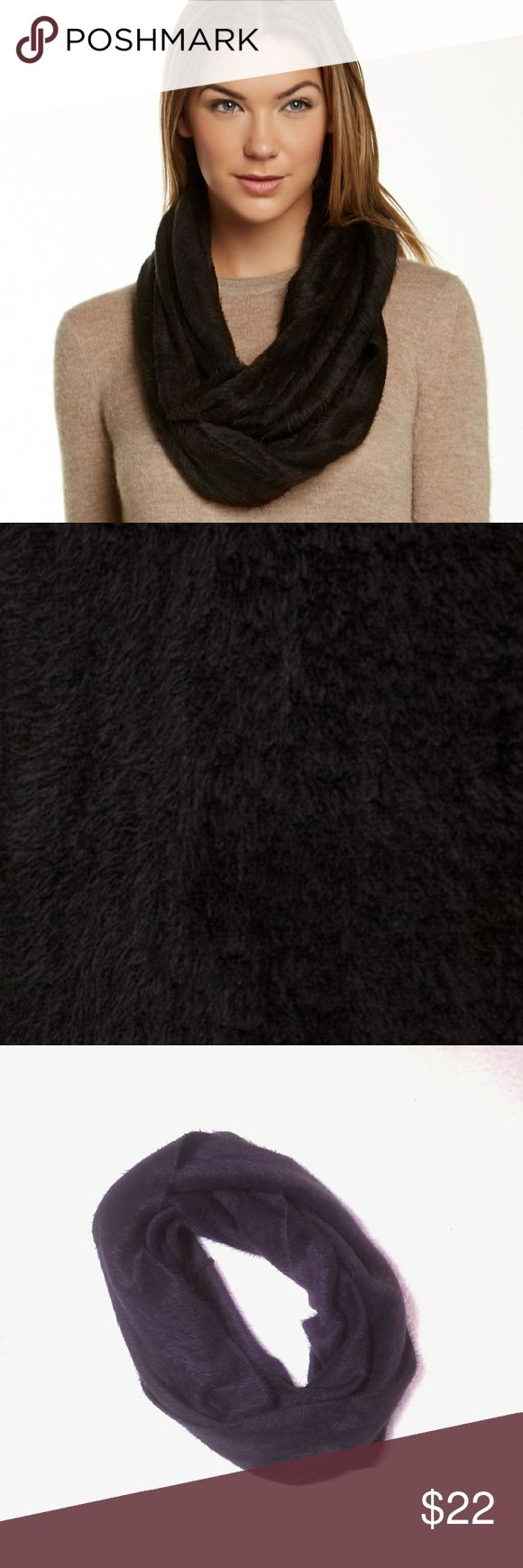 Cejon Infinity Scarf New Black Faux Fur Hairy Brushed Infinity Scarf - from Nordstrom Cejon Accessories Scarves & Wraps