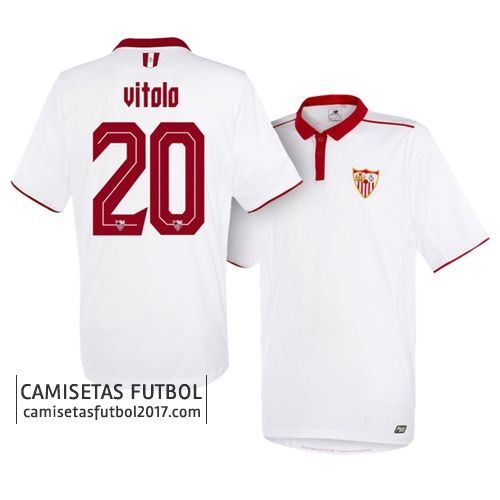 Primera camiseta VITOLO del Sevilla FC 2016 2017 Camiseta Sevilla FC 2018   Equipacion Sevilla FC 2018