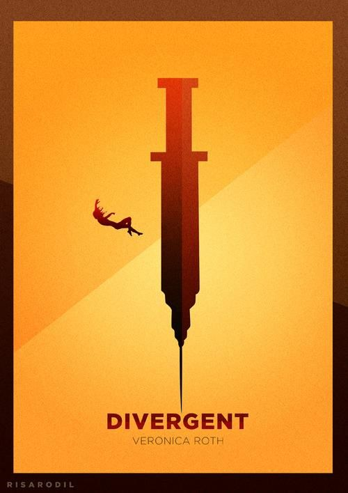 Erudite's plan to overcome freewill, creating her free warriors under her full control of the simulation  Minimalistic Divergent movie poster