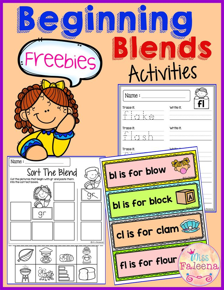 These are FREE samples from my Beginning and Ending Activities the Bundle.Free Beginning Blends Activities contains 20 pages of beginning blends worksheets.   Kindergarten | Kindergarten Worksheets | First Grade | First Grade Worksheets | Phonics| Beginning Blends | Free Lessons | Beginning Blends Worksheets | Printables