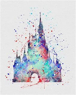 Image result for Disney Castle outlines painting