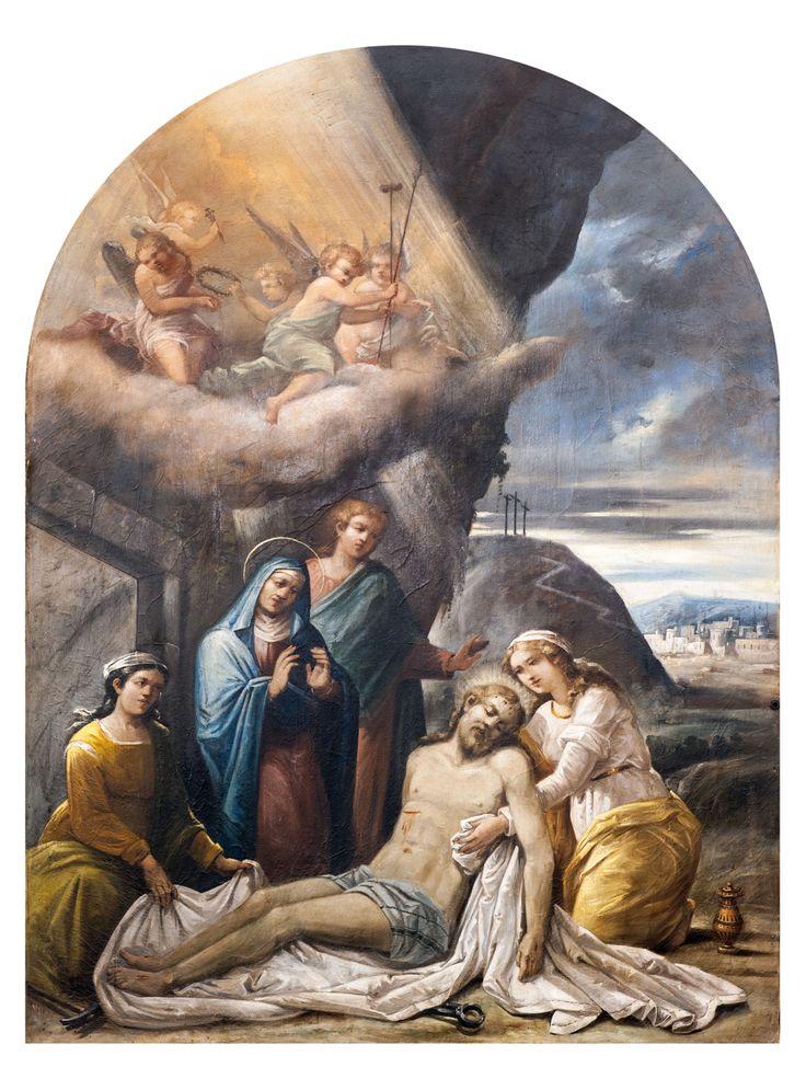 Pittore del XIX sec. Compianto, Abeto di Preci, Chiesa di S. Martino