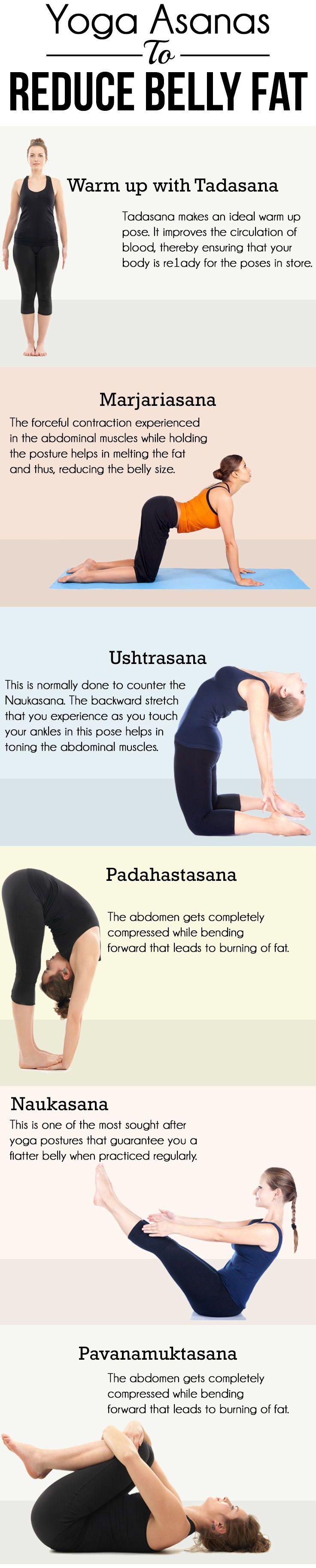 6 Yoga Asanas To Reduce Tummy Fat! #healthandfitness