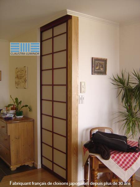 18 best Cloisons Japonaises images on Pinterest Room dividers - fabriquer porte coulissante japonaise