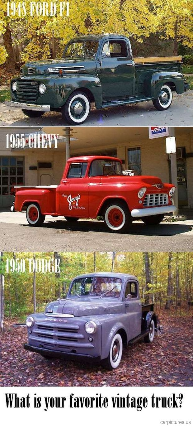 what is your favorite vintage pickup truck car pictures