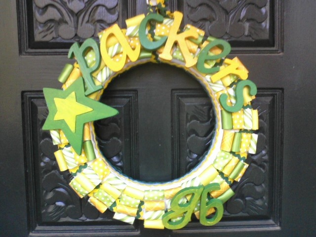 Green Bay Packers Ribbon Wreath