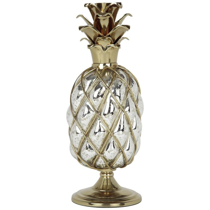 Add some pineapple-inspired sophistication to your wedding décor with these elegant pineapple candle holders from Marks and Spencer.