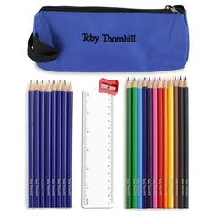 Blue Pencil Case & Personalised Pencils | Personalised | Absolutely Adorable