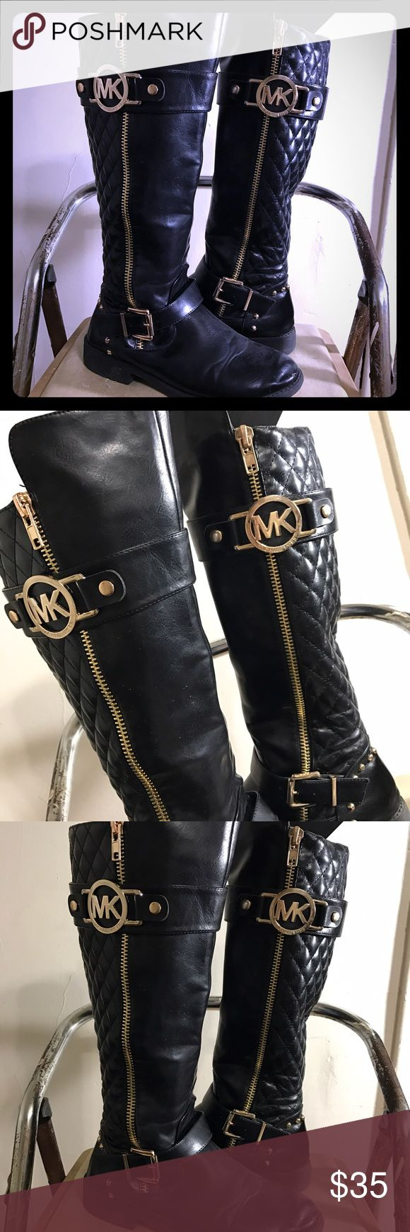 MK Boots Good condition broken zipper in inside can be fixed easily reduced price! Michael Kors Shoes Over the Knee Boots