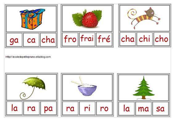 Pincer la bonne syllabe - L'école de petite Prune