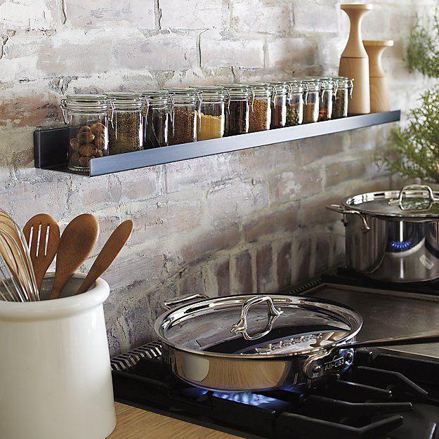 21 Sleek And Modern Metal Kitchen Designs: Best 25+ Wall Mounted Spice Rack Ideas On Pinterest