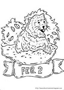 february groundhog day coloring pages for kids printable groundhog day coloring pages for kids - Groundhog Coloring Page Printable