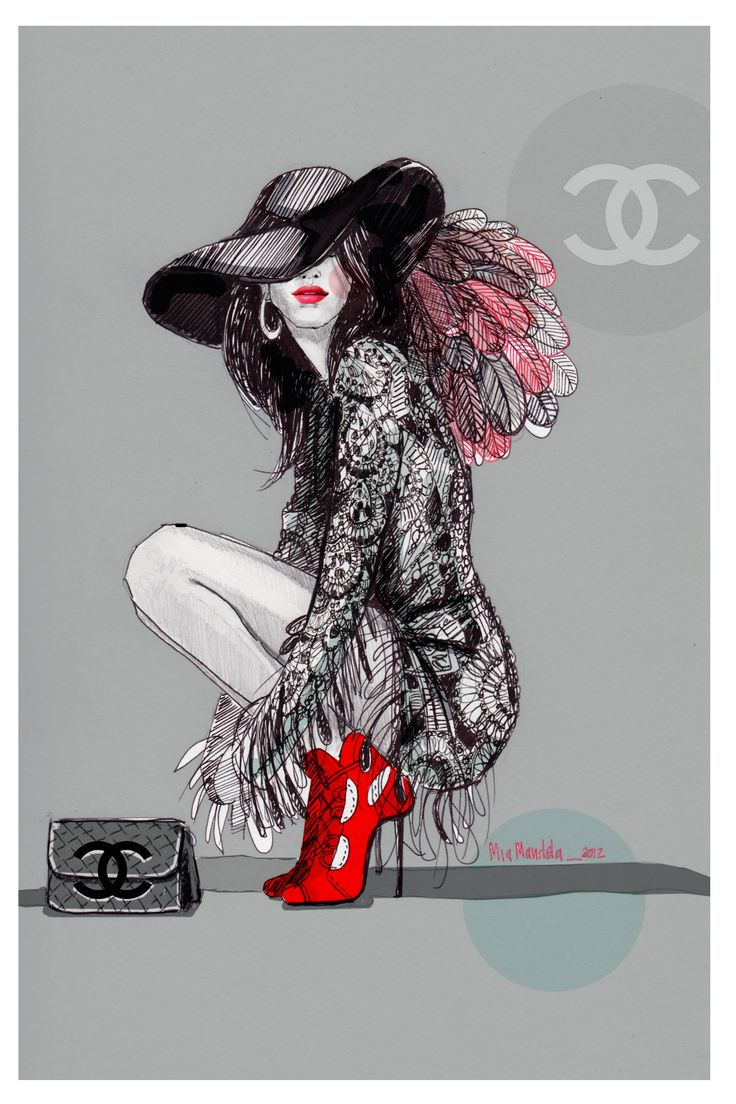 Chanel Fashion illustration/drawing #Illustration #Artistic