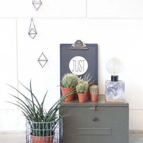 CP collections - Lamp met kurk met marmeren look