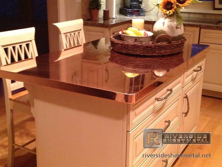 Copper Countertops Kitchen Copper Counter Tops Are Commonly Fabricated With These Materials