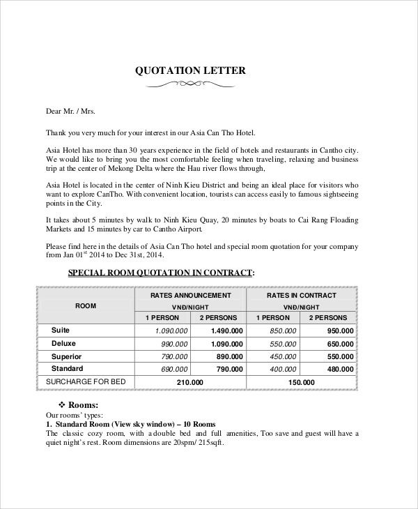 Cover Letter Quotes Templates 1-Cover Letter Template Quotation