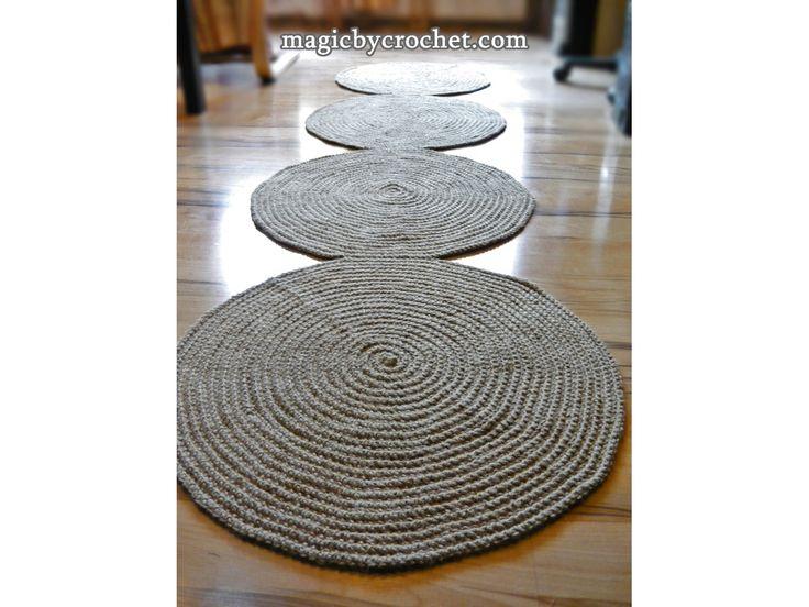 Hallway Rug 8 foot rug, Jute rug, Long Runner rug, Jute runner rug, no.037