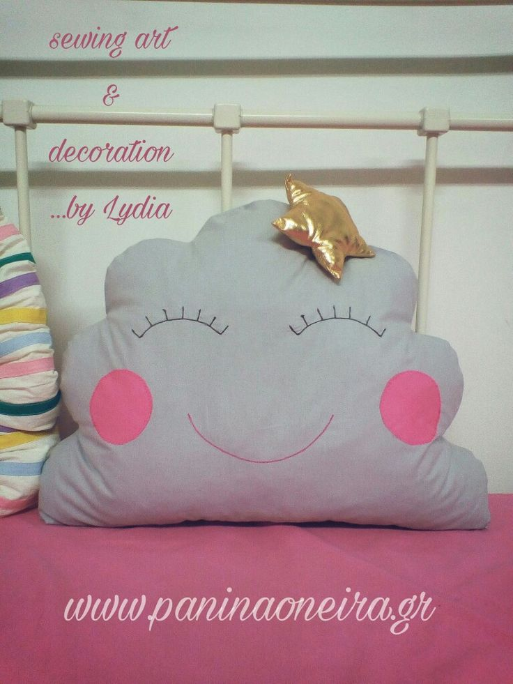 Handmade cloud pillow for baby's room!!