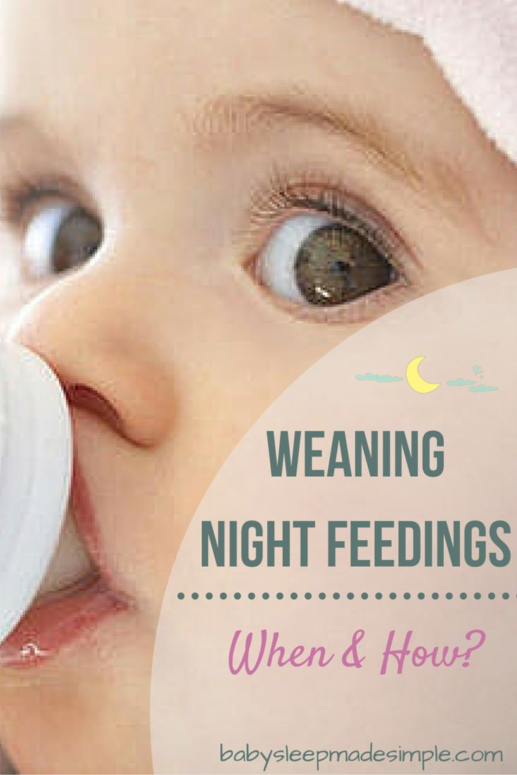 Weaning Night Feedings | Want to know if your baby is ready to wean off night feeds? And the best way to do so? Discover the best ages and methods to stop your baby's night feeds here!