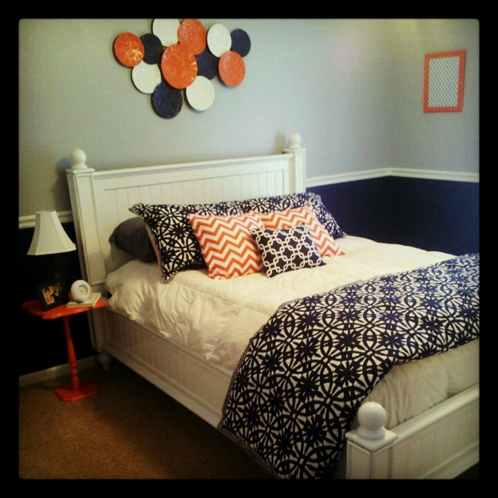 48 Best Images About Coral And Navy.. Bedroom Colors On