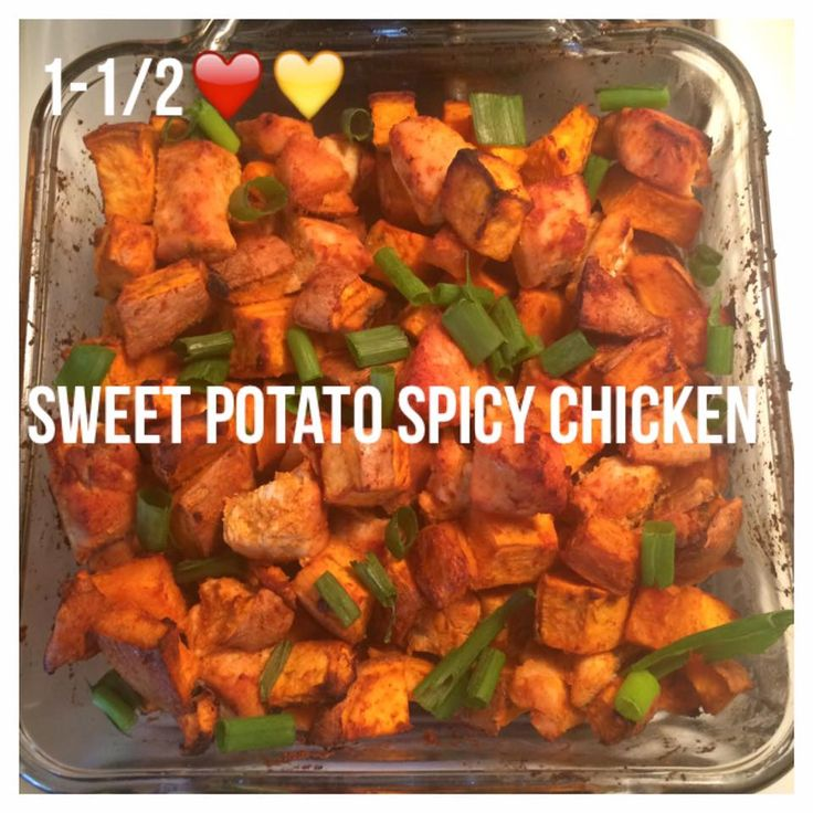 Di's Food Diary 21 Day Fix Approved Dinner Recipes = Sweet Potato Spicy Chicken