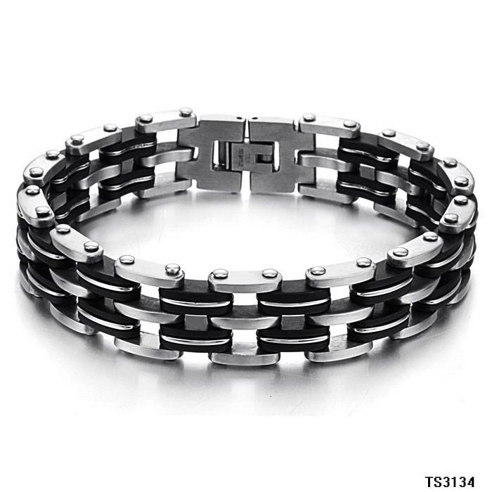 Iftec New Stainless Steel Men Charm Bracelets Retro Mens Bracelets 2017 Accessory Men Bracelet Brazalet Biker Jewelry Accessory