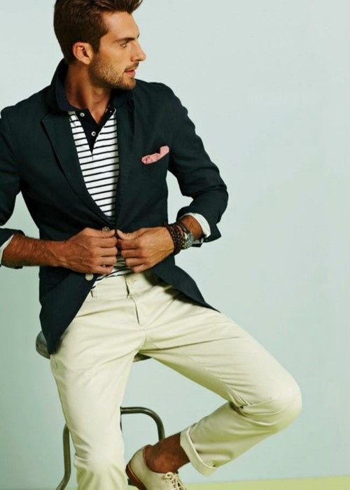 //Nautical Style, Fashion Men, Men Clothing, Summer Looks, Men Style, Men Fashion, Offices Outfit, Blazers, By