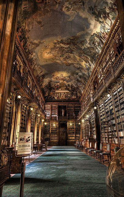 The Philosophical Hall - Library of Strahov Monastery, Prague, Czech Republic (scheduled via http://www.tailwindapp.com?utm_source=pinterest&utm_medium=twpin&utm_content=post33302056&utm_campaign=scheduler_attribution)