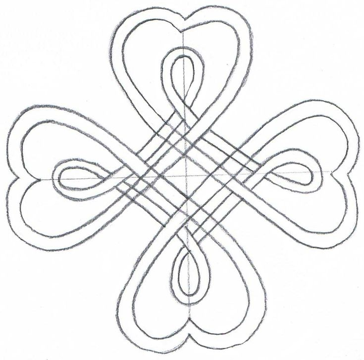 how to draw celtic knots using dots