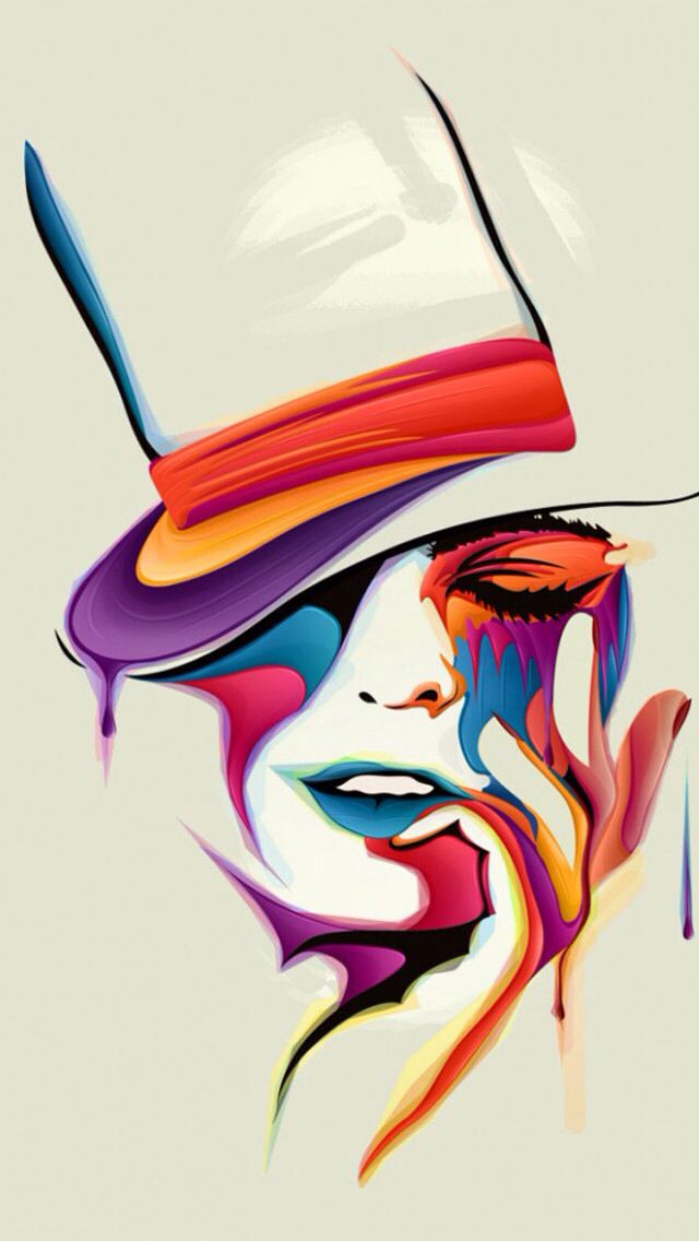 #colorful #lady #hat