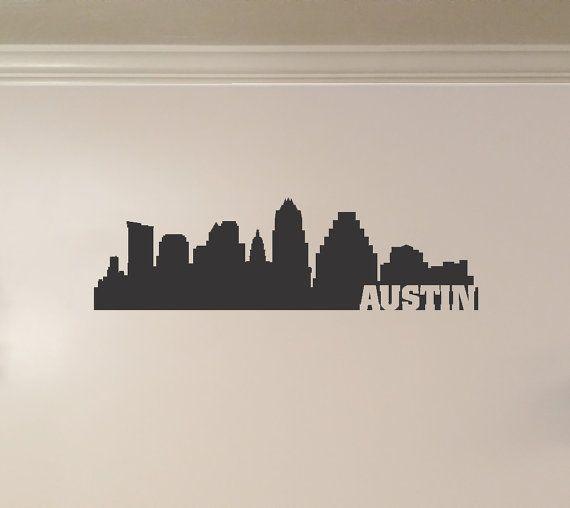 Best Skylines North America Images On Pinterest City - Custom vinyl decals wichita ks