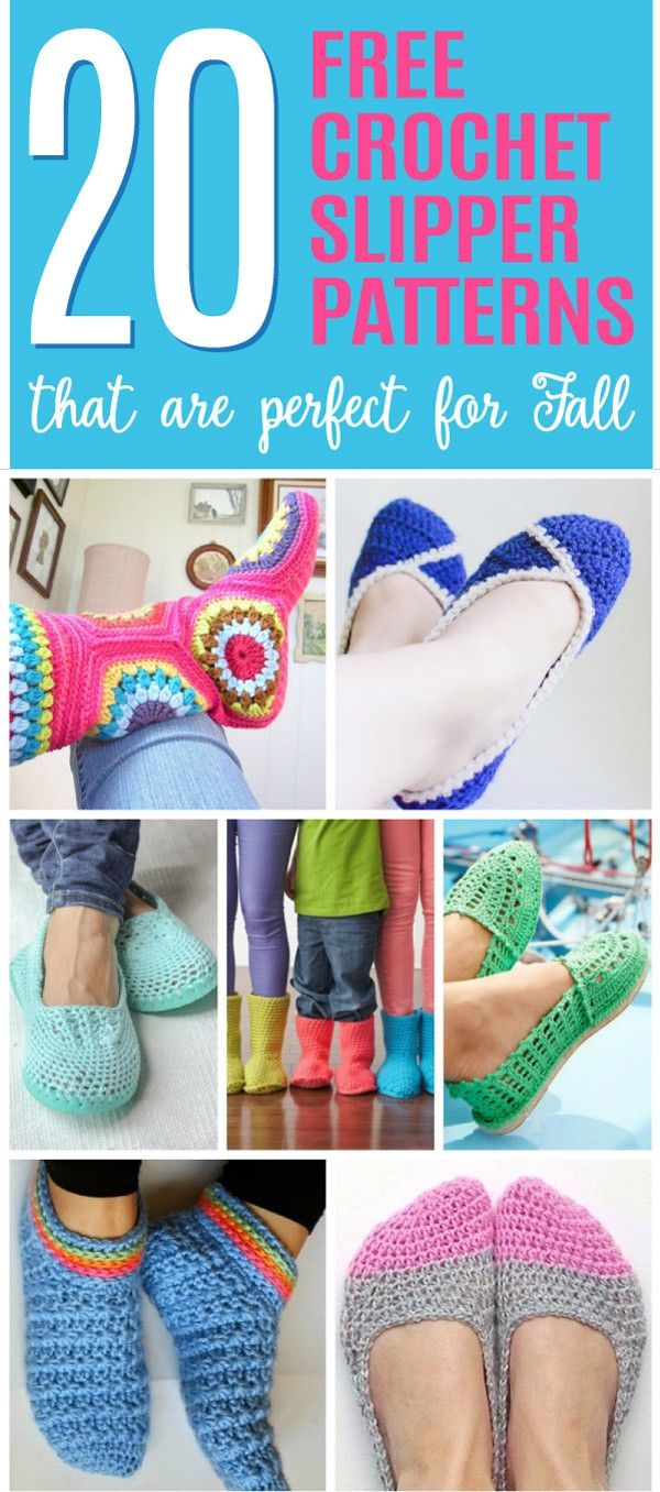 146 best shoes and slippers images on pinterest 20 free crochet slipper patterns that are perfect for fall bankloansurffo Image collections