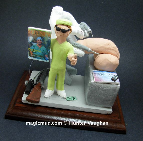 Da Vinci Surgeon's Gift Figurine   www.magicmud.com    1 800 231 9814    magicmud@magicmud.com $225  Personalized #Medical Gift Figurines, custom created just for you!    Perfect present for all #Doctors, a  heartfelt gift for birthdays, graduations, anniversaries, new office openings, retirement, as a thank you to a great #physician  Surgeon, cardiologist, therapist, nurse, ob-gyno, podiatrist, psychiatrist, nephrologist, urologist, radiologist, any occupation made to to order by #magicmud