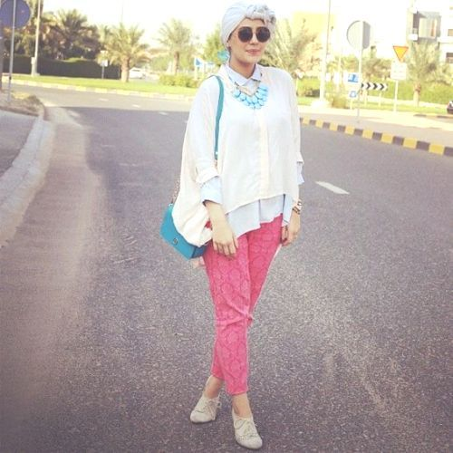 summer hijab style, Funky hijab style by Asia Akf http://www.justtrendygirls.com/funky-hijab-style-by-asia-akf/