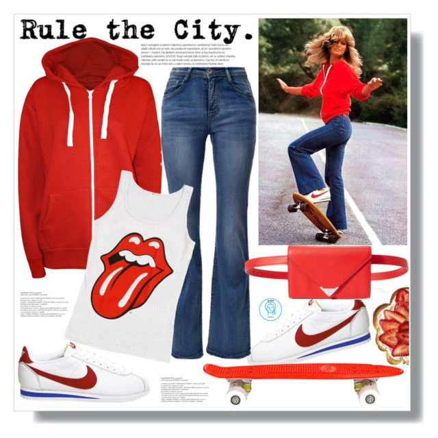 Rule The City by queenvirgo on Polyvore featuring moda, WearAll, NIKE, Alexander Wang and Wild & Wolf